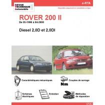 e-RTA ROVER 200 II Diesel (05-1996 à 04-2000)