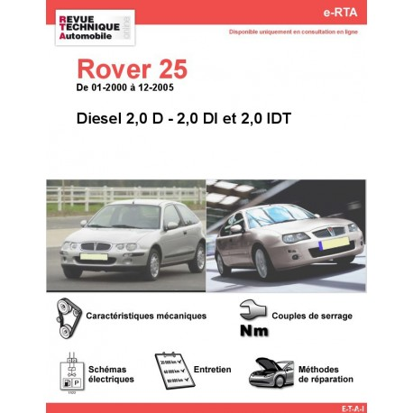 e-RTA Rover 25  Diesel (01-2000 à 12-2005)