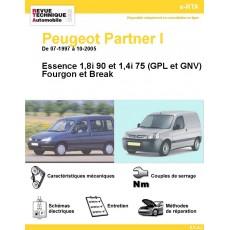 e-RTA Peugeot Partner I Essence et GPL (De 07-1997 à 10-2005)