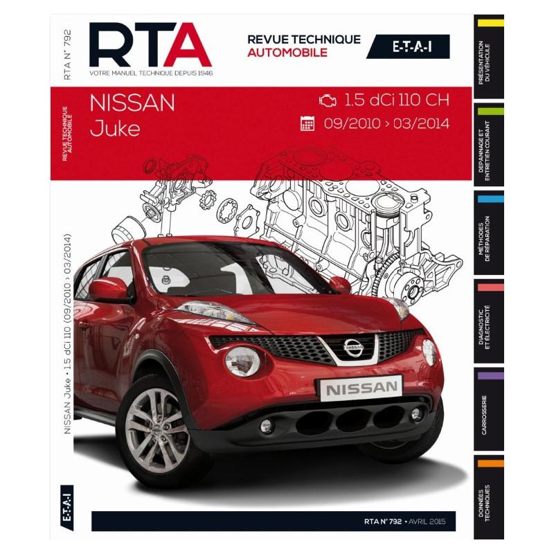 revue technique rta b792 nissan juke depuis 2010 09 site officiel etai. Black Bedroom Furniture Sets. Home Design Ideas