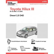 e-RTA Toyota HILUX III Diesel (02-2002 à 12-2005)