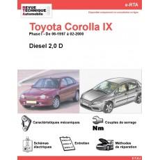 e-RTA Toyota Corolla IX Diesel (06-1997 à 02-2000)