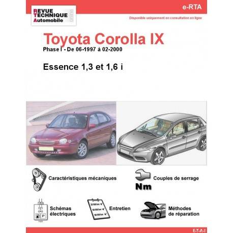 e-RTA Toyota Corolla IX Essence (06-1997 à 02-2000)