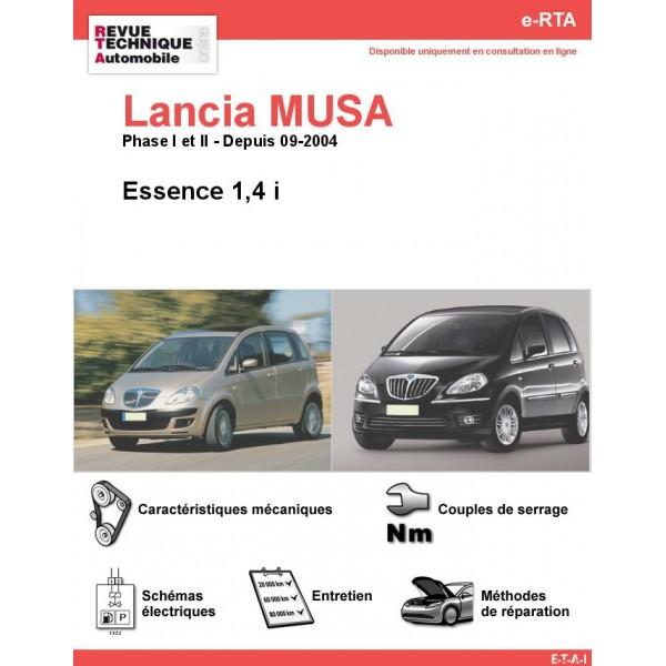 e-RTA Lancia MUSA Essence 1,4i (Depuis 09-2004)