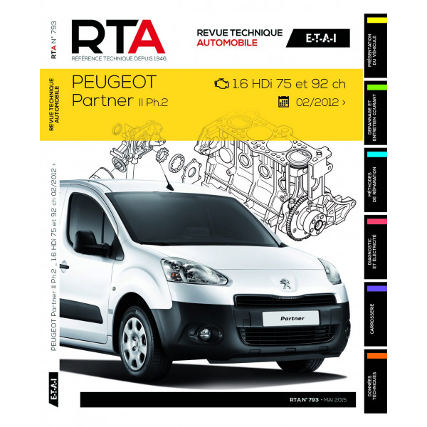 revue technique rta peugeot partner ii ph 2 site officiel etai. Black Bedroom Furniture Sets. Home Design Ideas