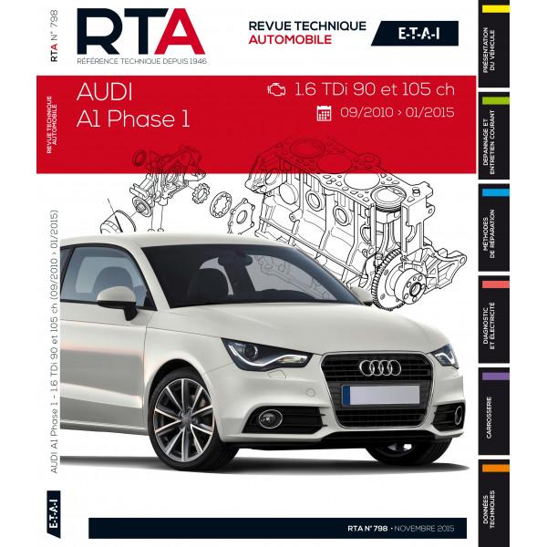 RTA B798 Audi A1  (09/2010 à 01/2015) 1.6Tdi 90et105CH