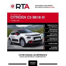E-RTA Citroen C3 III HAYON 5 portes de 10/2016 à ce jour