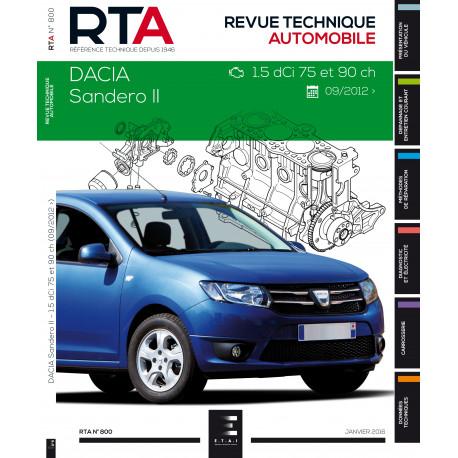 RTA 800  DACIA SANDERO II:1.5 DCI (75 et 90ch) depuis 10/2012