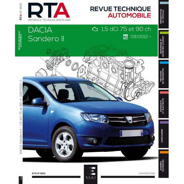 revue technique rta dacia sandero ii 1 5l dci depuis 10 2012 site officiel etai. Black Bedroom Furniture Sets. Home Design Ideas