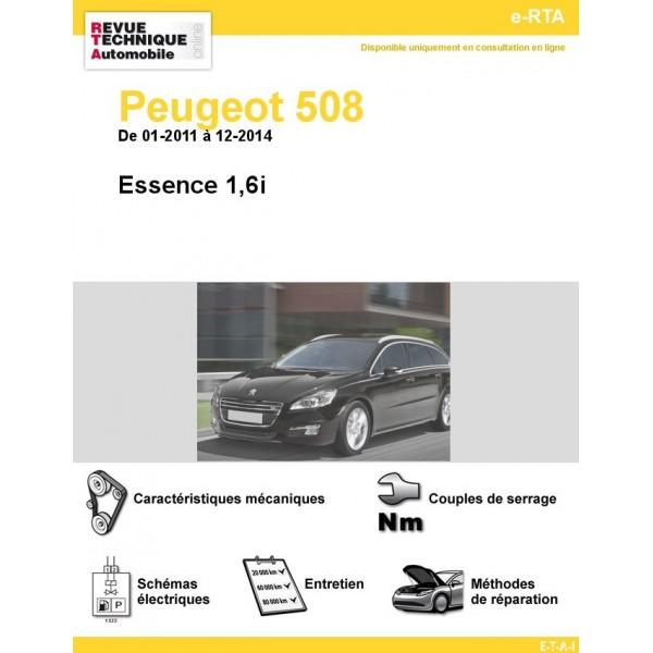 e-RTA Peugeot 508 Essence 1,6i (01-2011 à 12-2014)