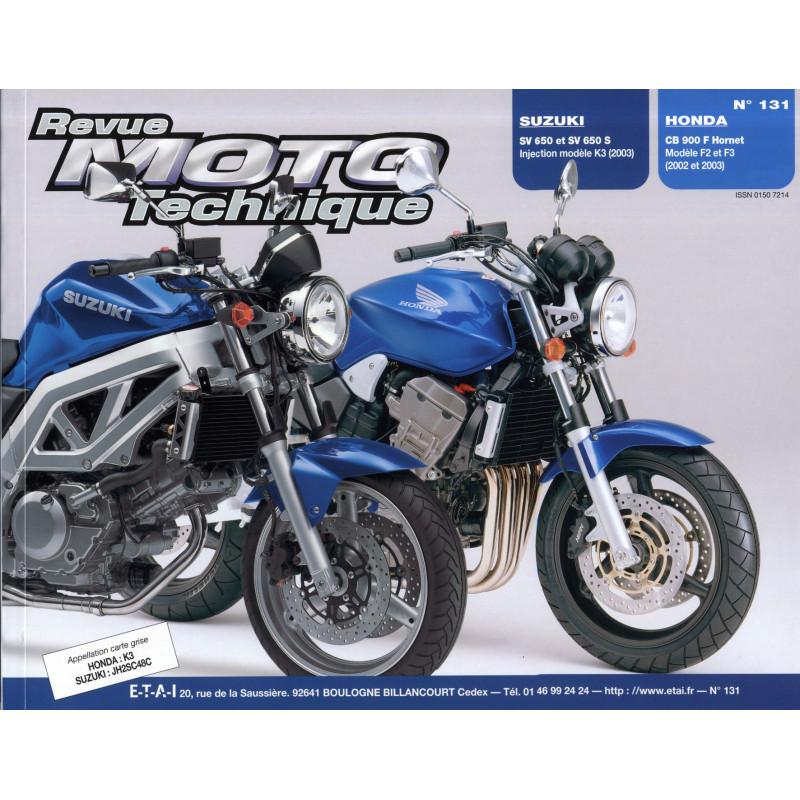 revue moto technique suzuki sv650 s n et honda cb900f2 hornet etai. Black Bedroom Furniture Sets. Home Design Ideas