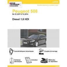 e-RTA Peugeot 508 Diesel 1,6 HDI  (01-2011 à 12-2014)