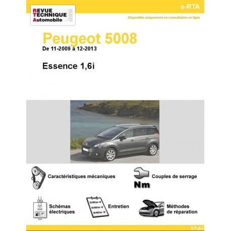 e-RTA Peugeot 5008 Essence 1,6i (11-2009 à 12-2013)