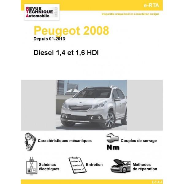 e-RTA Peugeot 2008 Diesel (Depuis 01-2013)