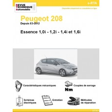 e-RTA Peugeot 208 Essence (Depuis 03-2012)