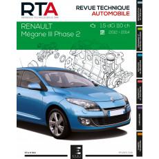 RTA 801 MEGANE III Ph.2:1.5DCI(110 ch) de 2012 à 2014