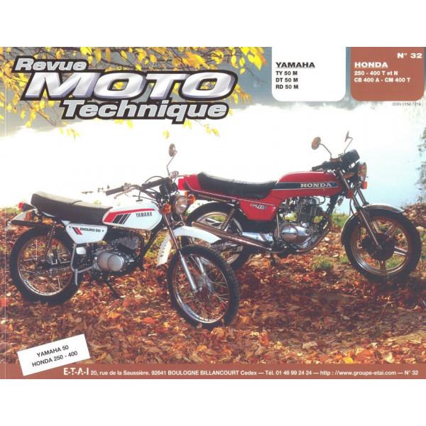 Revue Technique Rmt Yamaha ty dt rd50m et Honda cb 250/400 cm400