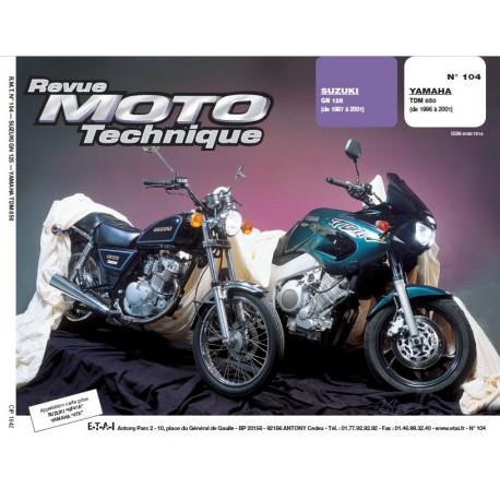 RMT PDF SUZUKI GN 125 (1987-2001) et YAMAHA TDM 850 (1996-2001)