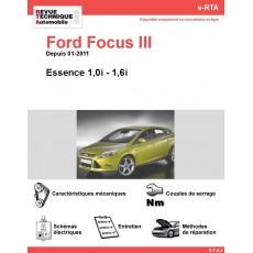 e-RTA Ford Focus III Essence 1.0 et 1.6