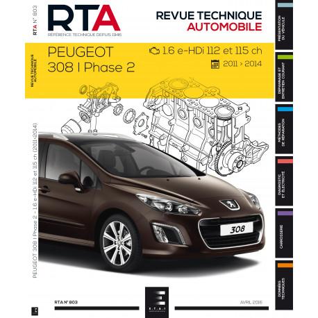 Rta 803 Peugeot 308i Ph 2 1 6 E Hdi 112et115ch Depuis 04 11