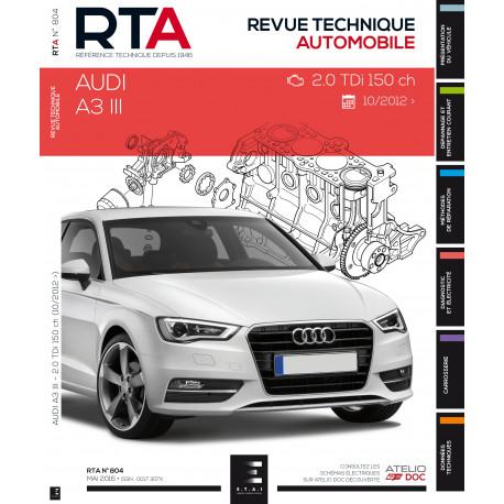RTA 804 A3 III : 2.0 TDI (150 ch) (depuis 06/2012)