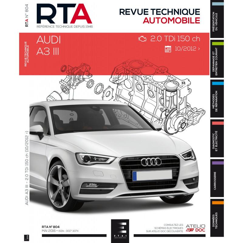 revue technique rta a3 iii 2 0 tdi 150 ch depuis 06 2012 site officiel etai. Black Bedroom Furniture Sets. Home Design Ideas