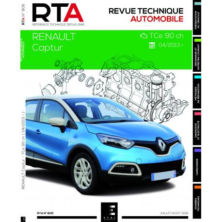 RTA 806 Renault CAPTUR : 0.9i (90 ch) (depuis 02/2013)
