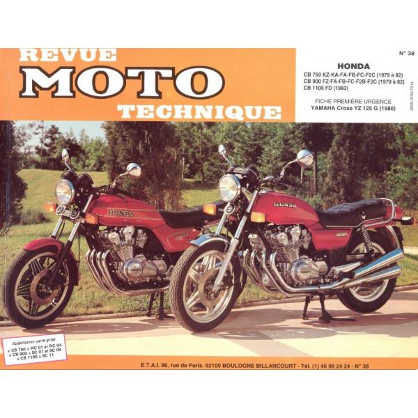 Revue Technique Rmt Honda cb 750 kz cb 900 fz et cb 1100 f
