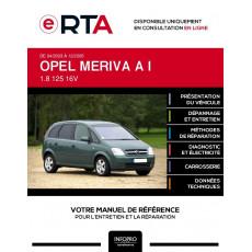 E-RTA Opel Meriva I MONOSPACE 5 portes de 04/2003 à 12/2005
