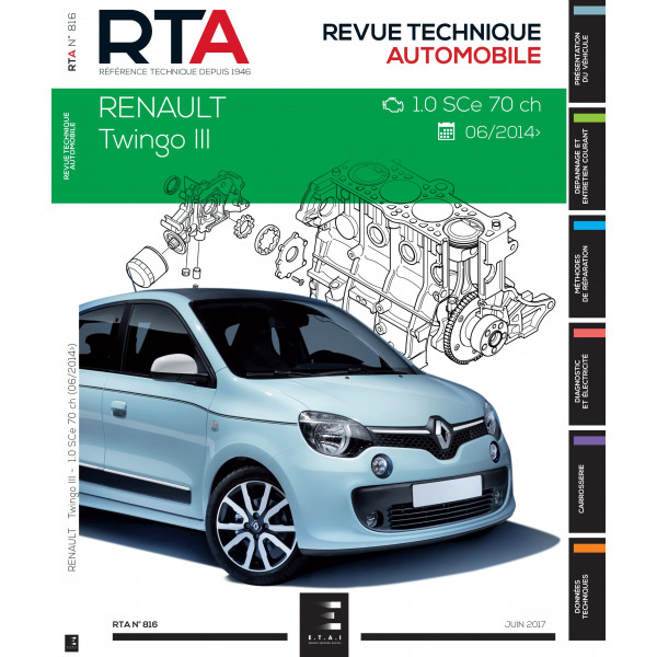 RTA 816 Twingo III : 1.0i (71 ch) (depuis 2014)