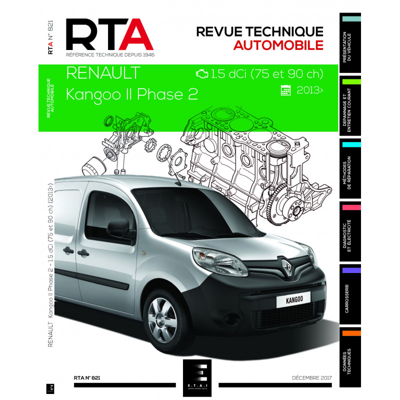 rta renault kangoo 2 phase 2 depuis 2013 revue technique auto. Black Bedroom Furniture Sets. Home Design Ideas