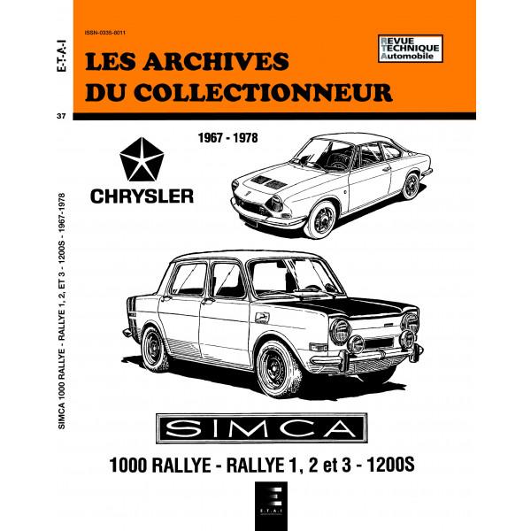SIMCA 1000 RALLYE - RALLYE 1-2 ET 3 - 1200S N 37