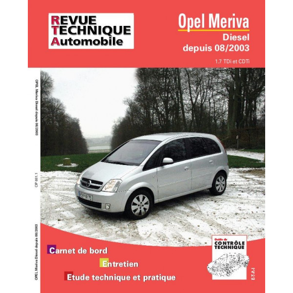 revue technique opel meriva d rta site officiel etai. Black Bedroom Furniture Sets. Home Design Ideas
