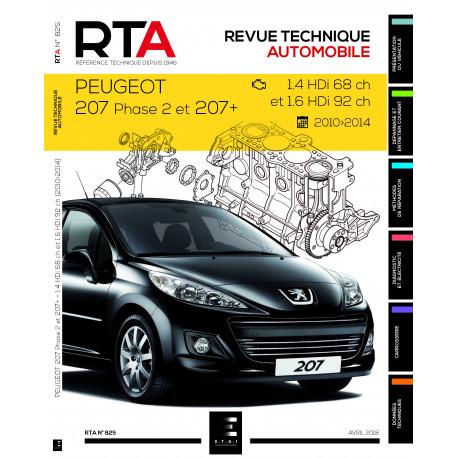 RTA 825 P 207 1.4 HDi 70ch & 1.6HDi 92ch (2010-2014)