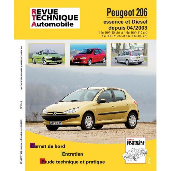 revue technique peugeot 206d rta site officiel etai. Black Bedroom Furniture Sets. Home Design Ideas