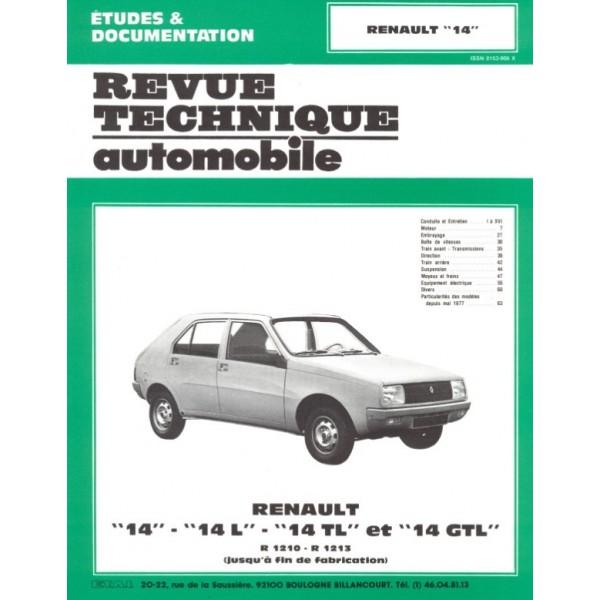 Revue Technique Renault 14 l tl et gtl