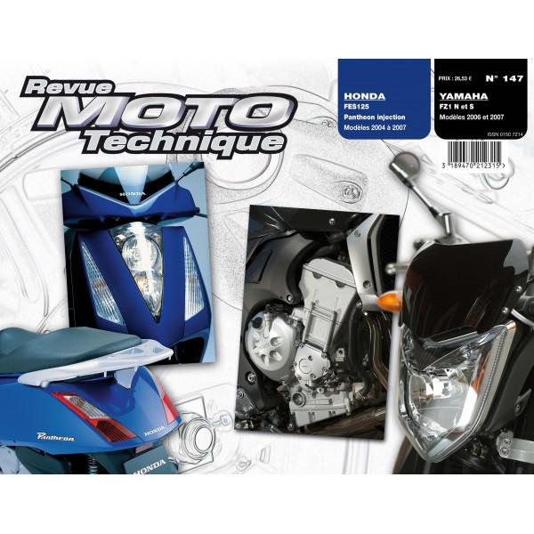 Revue Technique Rmt Honda fes 125 et Yamaha fz1 fazer