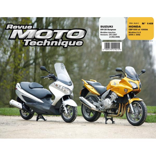 Revue Technique Rmt Suzuki uh125 burgman et Honda cbf1000