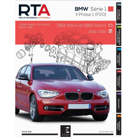 RTA 832 BMW SERIE1 HAYON 5P II Ph1 (08-2011 à 06-2015)