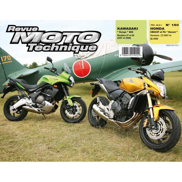 Revue Technique Rmt Honda cb600f/fa et Kawasaki versys 650