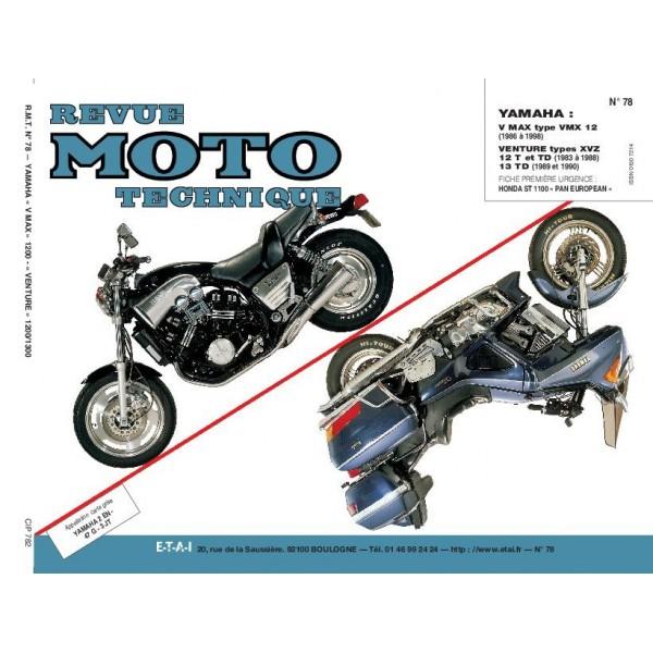 Revue Technique Rmt Yamaha vmx 12 v xvz 12t td venture 13 td