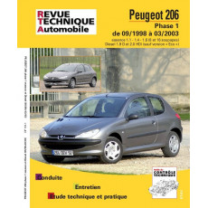 Revue Technique Automobile Peugeot 206 ph1