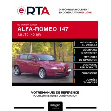 E-RTA Alfa-romeo 147 HAYON 5 portes de 04/2001 à 09/2004