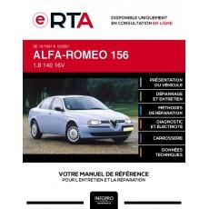 E-RTA Alfa-romeo 156 BERLINE 4 portes de 10/1997 à 12/2001