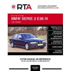 E-RTA Bmw Serie 3 III BERLINE 4 portes de 01/1991 à 04/1998