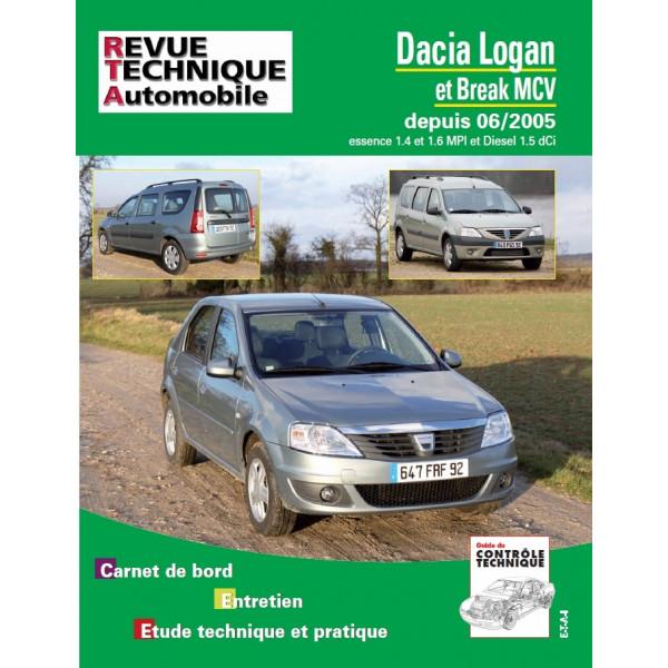 Revue Technique Renault dacia logan et mcv essence 1.4/1.6 et 1.5dci diesel (06/2005)