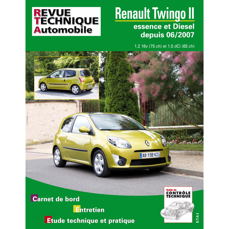 revue technique renault twingo ii depuis 06 2007 rta site officiel etai. Black Bedroom Furniture Sets. Home Design Ideas