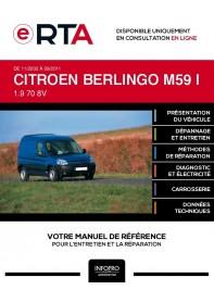 E-RTA Citroen Berlingo I FOURGON 3 portes de 11/2002 à 09/2011