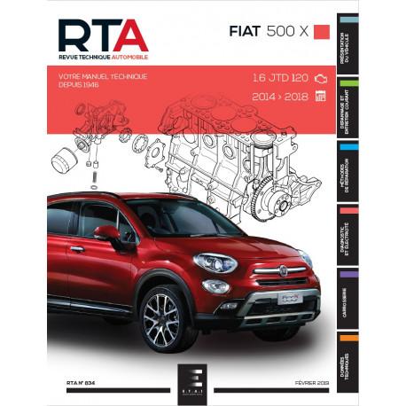 RTA 834 - FIAT 500 X - 1.6 JTD 120 (de 2014 à 2018)