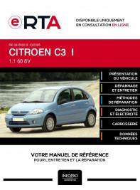 E-RTA Citroen C3 I HAYON 5 portes de 04/2002 à 10/2005
